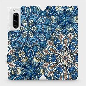 Flipové pouzdro Mobiwear na mobil Sony Xperia 5 - V108P Modré mandala květy