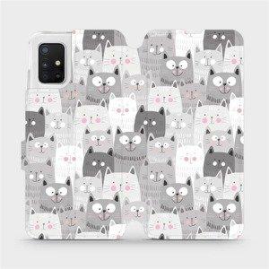 Flipové pouzdro Mobiwear na mobil Samsung Galaxy A51 - M099P Kočičky
