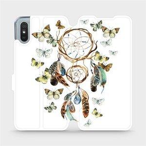 Flipové pouzdro Mobiwear na mobil Xiaomi Redmi 9A - M001P Lapač a motýlci