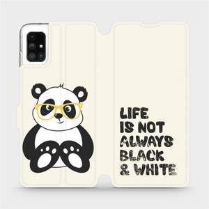 Flipové pouzdro Mobiwear na mobil Samsung Galaxy M51 - M041S Panda - life is not always black and white