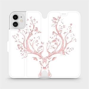 Flipové pouzdro Mobiwear na mobil Apple iPhone 12 - M007S Růžový jelínek