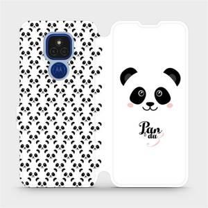 Flipové pouzdro Mobiwear na mobil Motorola Moto E7 Plus - M030P Panda Amálka