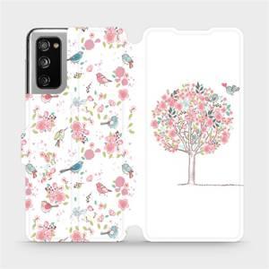 Flipové pouzdro Mobiwear na mobil Samsung Galaxy S20 FE - M120S Strom a ptáčci