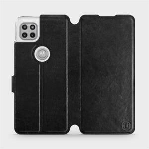 Flipové pouzdro Mobiwear na mobil Motorola Moto G 5G v provedení C_BLS Black&Gray s šedým vnitřkem
