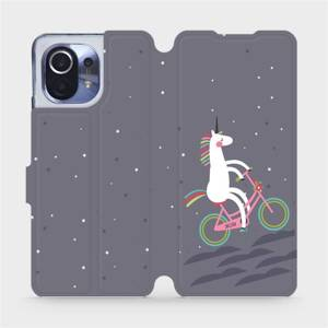 Flipové pouzdro Mobiwear na mobil Xiaomi Mi 11 - V024P Jednorožec na kole