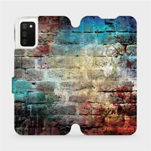 Flipové pouzdro Mobiwear na mobil Samsung Galaxy A02s - V061P Zeď