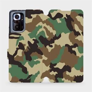 Flipové pouzdro Mobiwear na mobil Xiaomi Redmi Note 10 Pro - V111P Maskáče