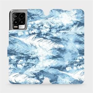 Flip pouzdro Mobiwear na mobil Realme 8 - M058S Světle modrá horizontální pírka