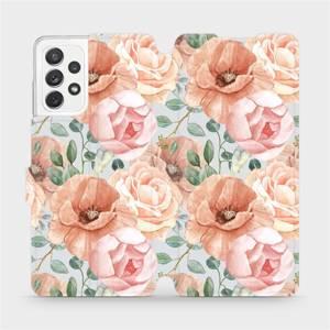 Flip pouzdro Mobiwear na mobil Samsung Galaxy A72 - MP02S Pastelové květy