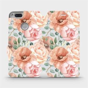 Flip pouzdro Mobiwear na mobil Xiaomi Mi A1 - MP02S Pastelové květy