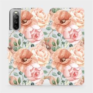 Flip pouzdro Mobiwear na mobil Sony Xperia 10 III - MP02S Pastelové květy