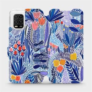 Flip pouzdro Mobiwear na mobil Xiaomi Mi 10 Lite - MP03P Modrá květena