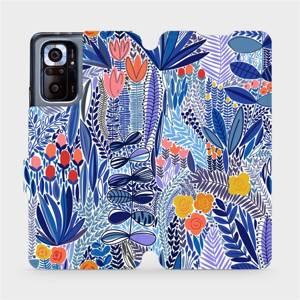 Flip pouzdro Mobiwear na mobil Xiaomi Redmi Note 10 Pro - MP03P Modrá květena
