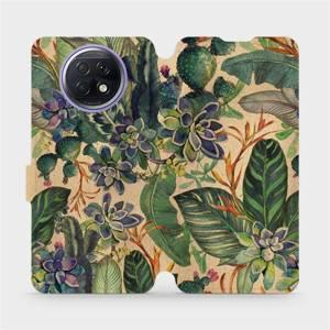 Flip pouzdro Mobiwear na mobil Xiaomi Redmi Note 9T 5G - VP05S Sukulenty