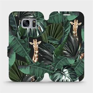 Flip pouzdro Mobiwear na mobil Samsung Galaxy S7 Edge - VP06P Žirafky