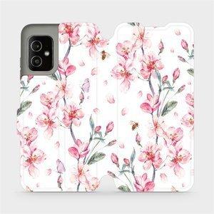 Flip pouzdro Mobiwear na mobil Asus Zenfone 8 - M124S Růžové květy