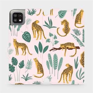 Flip pouzdro Mobiwear na mobil Samsung Galaxy A22 5G - MP07S Leopardi