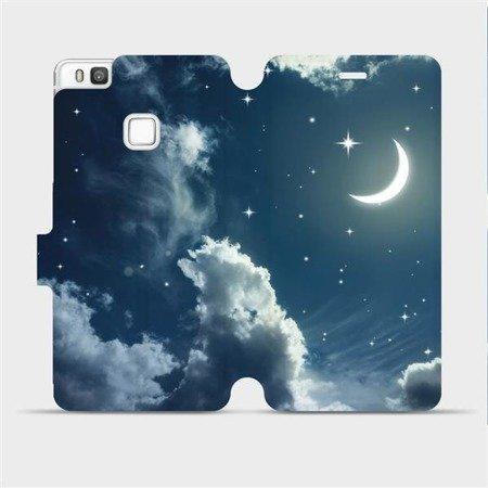 Flipové pouzdro Mobiwear na mobil Huawei P9 Lite - V145P Noční obloha s měsícem