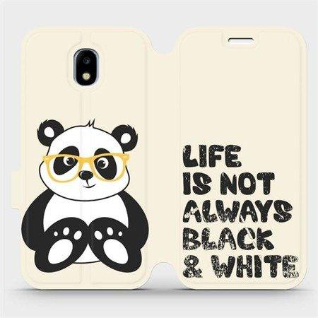 Flipové pouzdro Mobiwear na mobil Samsung Galaxy J3 2017 - M041S Panda - life is not always black and white