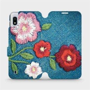 Flipové pouzdro Mobiwear na mobil Samsung Galaxy A10 - MD05P Džínové květy