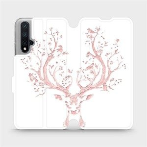 Flipové pouzdro Mobiwear na mobil Honor 20 - M007S Růžový jelínek