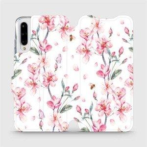 Flipové pouzdro Mobiwear na mobil Xiaomi Mi A3 - M124S Růžové květy