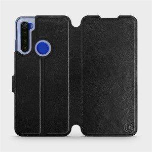 Flipové pouzdro Mobiwear na mobil Xiaomi Redmi Note 8T v provedení C_BLS Black&Gray s šedým vnitřkem