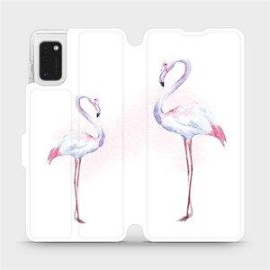 Flipové pouzdro Mobiwear na mobil Samsung Galaxy A41 - M005S Plameňáci