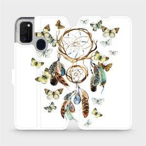 Flipové pouzdro Mobiwear na mobil Samsung Galaxy M21 - M001P Lapač a motýlci