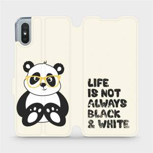 Flipové pouzdro Mobiwear na mobil Xiaomi Redmi 9A - M041S Panda - life is not always black and white