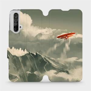 Flipové pouzdro Mobiwear na mobil Realme X3 SuperZoom - MA03P Oranžové letadlo v horách