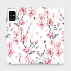 Flipové pouzdro Mobiwear na mobil Samsung Galaxy M51 - M124S Růžové květy