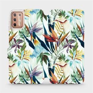 Flipové pouzdro Mobiwear na mobil Motorola Moto G9 Plus - M071P Flóra