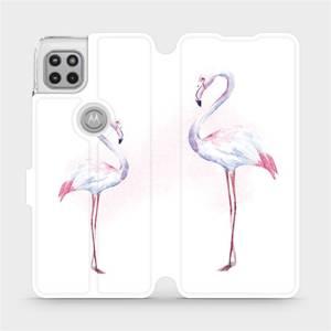 Flipové pouzdro Mobiwear na mobil Motorola Moto G 5G - M005S Plameňáci