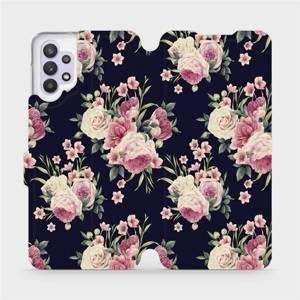 Flipové pouzdro Mobiwear na mobil Samsung Galaxy A32 5G - V068P Růžičky