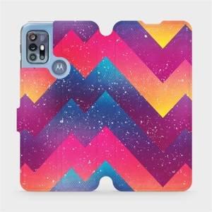 Flipové pouzdro Mobiwear na mobil Motorola Moto G20 - V110S Barevné klikyháky