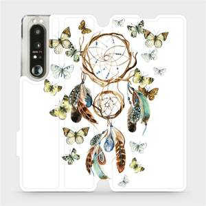 Flip pouzdro Mobiwear na mobil Sony Xperia 1 III - M001P Lapač a motýlci