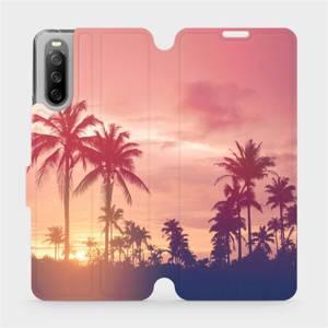 Flip pouzdro Mobiwear na mobil Sony Xperia 10 III - M134P Palmy a růžová obloha
