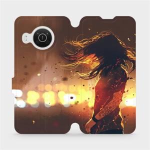 Flip pouzdro Mobiwear na mobil Nokia X10 - MA02S Tetovaná dívka