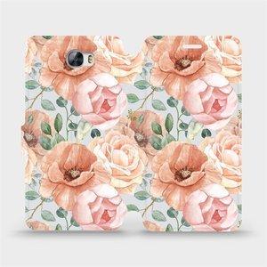 Flip pouzdro Mobiwear na mobil Huawei Y5 II - MP02S Pastelové květy