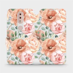 Flip pouzdro Mobiwear na mobil Nokia 4.2 - MP02S Pastelové květy