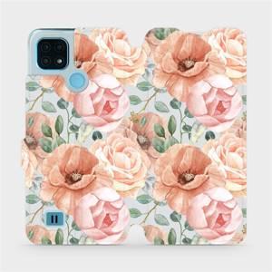 Flip pouzdro Mobiwear na mobil Realme C21 - MP02S Pastelové květy