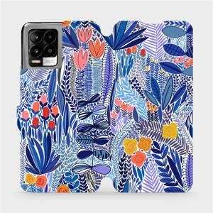 Flip pouzdro Mobiwear na mobil Realme 8 - MP03P Modrá květena