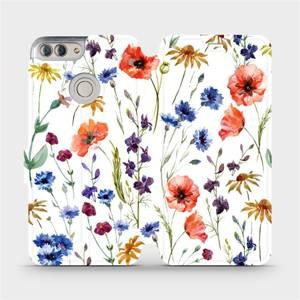 Flip pouzdro Mobiwear na mobil Huawei P Smart - MP04S Luční kvítí