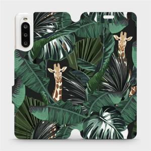 Flip pouzdro Mobiwear na mobil Sony Xperia 10 II - VP06P Žirafky