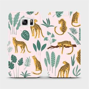 Flip pouzdro Mobiwear na mobil Samsung Galaxy S6 - MP07S Leopardi