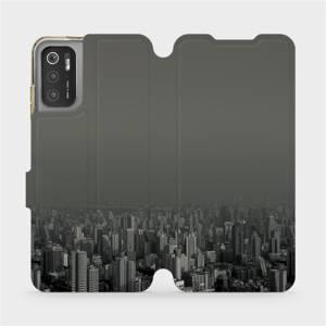 Flip pouzdro Mobiwear na mobil Xiaomi Poco M3 Pro 5G - V063P Město v šedém hávu