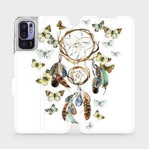 Flip pouzdro Mobiwear na mobil Xiaomi Redmi Note 10 5G - M001P Lapač a motýlci
