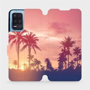 Flip pouzdro Mobiwear na mobil Realme 8 5G - M134P Palmy a růžová obloha