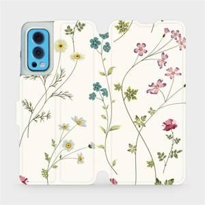 Flip pouzdro Mobiwear na mobil OnePlus Nord 2 5G - MD03S Tenké rostlinky s květy